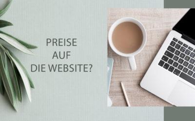 Preise auf deine Website?